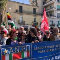Il 25 aprile a Salerno: cittadini e partigiani in corteo