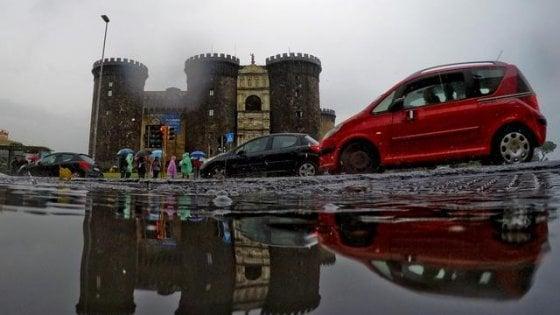 Vento e temporali, allerta meteo in Campania