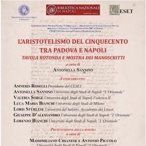 Napoli, Biblioteca nazionale: incontro sull'Aristotelismo del Cinquecento tra Padova e Napoli