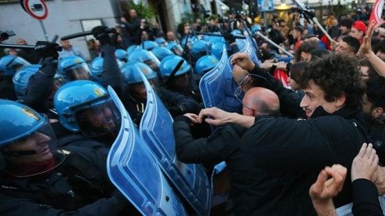 """Salvini a Napoli, i funzionari polizia: """"Tutti abbassino i toni"""""""