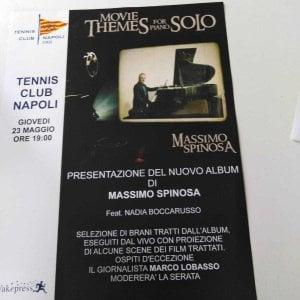 """Tennis club Napoli, presentazione di """"Movie themes for piano solo"""" di Massimo Spinosa"""
