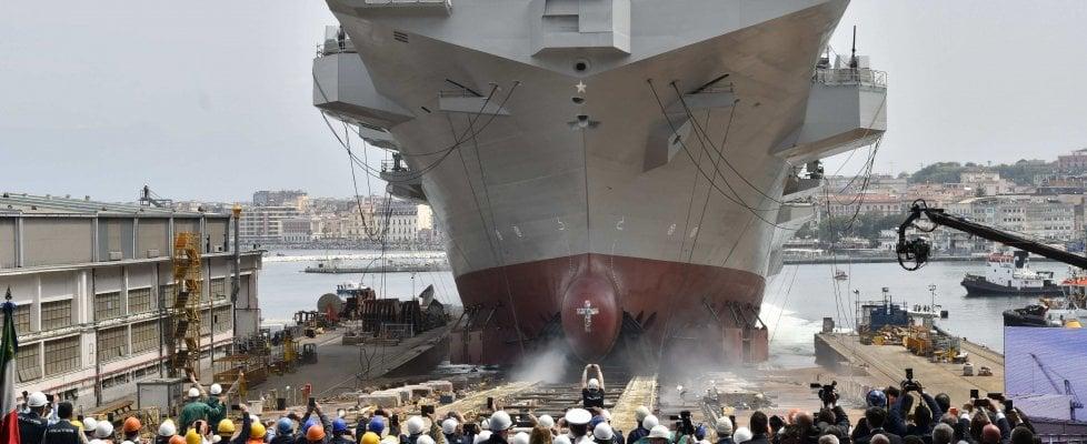 """Mattarella a Castellammare: la Marina vara nave """"Trieste"""", la più grande dal dopoguerra"""