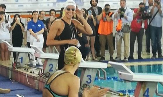 Grand Prix di nuoto, show di Federica Pellegrini a Caserta