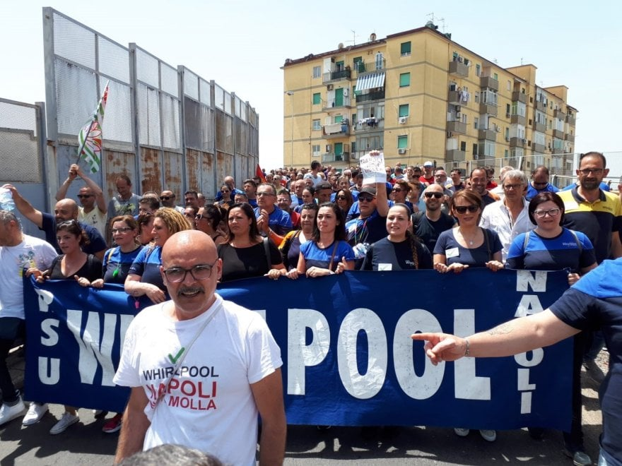 Operai Whirlpool  in corteo a Napoli
