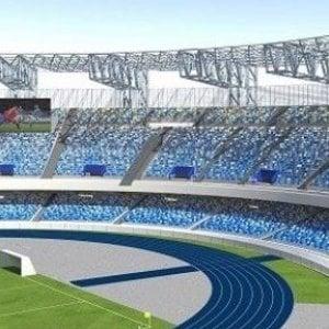 Napoli, stadio San Paolo: ecco due maxi-schermi di ultima generazione