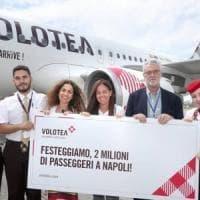 Turismo: Volotea, 2 milioni di passeggeri trasportati a Napoli