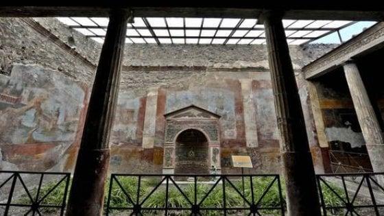 Maltempo: cede una trave nella Domus patrizia a Pompei, nessun ferito