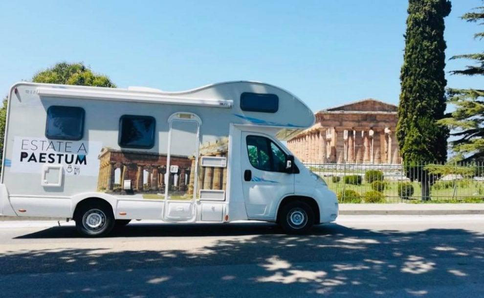 Al via il tour del camper Parco Archeologico di #Paestum