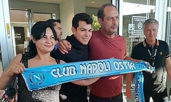 Napoli, Lozano è a Villa Stuart per le visite mediche. Poi firmerà il contratto