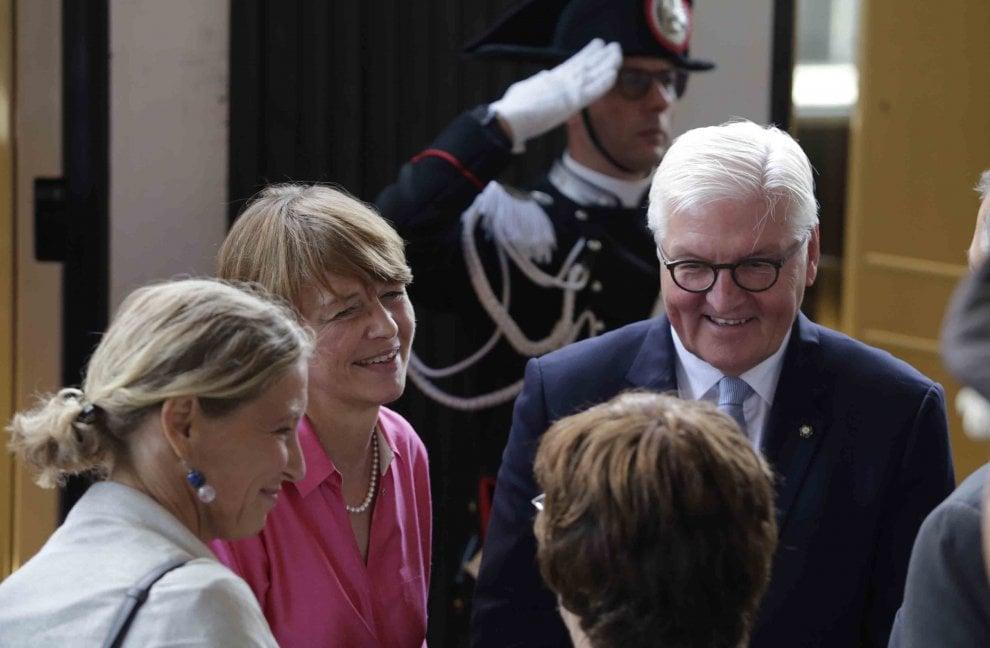 Napoli, la visita del presidente tedesco Steinmeier