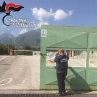 Avellino, sequestrato impianto di stoccaggio dei rifiuti