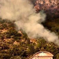 Sarno, le fasi dell'incendio che ha terrorizzato i residenti