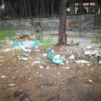 Scempio rifiuti sul Vesuvio,decine di sacchi di immondizia raccolti delle Associazioni