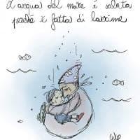 Fumetti, mamma e bambino sul fondo di Lampedusa: l'omaggio di Giulio Laurenzi
