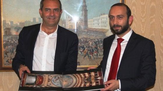 Il presidente del parlamento dell'Armenia Ararat Mirzoyan è stato ricevuto dal sindaco di Napoli