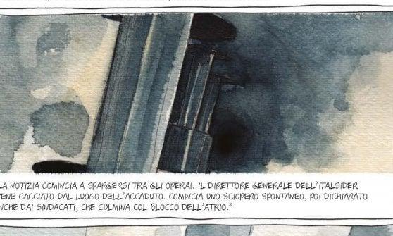 """""""L'ora X"""" , una graphic novel su """"Lotta Continua"""" firmata Erri De Luca"""