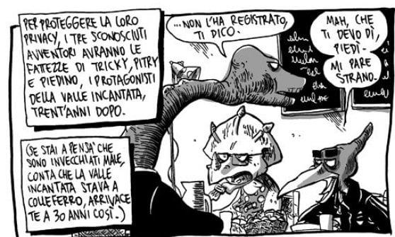 """Zerocalcare, una giornata a Napoli alla Feltrinelli: """"Racconto la realtà con i fumetti"""""""
