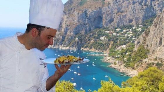 """Capri applaude la stella dello chef Lionetti: """"Un sogno che si avvera"""""""