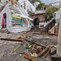 Capri, i danni della mareggiata a Marina Piccola: scompare la spiaggetta