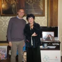 Teatro, il sindaco riceve Marisa Laurito