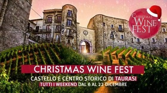 """Taurasi, tutto pronto per il """"Christmas Wine Fest"""""""