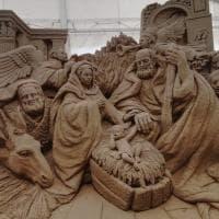 Salerno, il presepe è di sabbia: artisti internazionali per scolpire il '700 napoletano