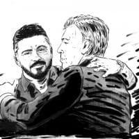 Napoli, Gattuso-Ancelotti, cambio della guardia tra amici