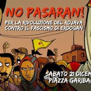 Le comunità curde sfilano a Napoli contro il leader turco Erdogan