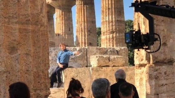 """Paestum tra i protagonisti della seconda puntata di """"Meraviglie"""" di Alberto Angela"""