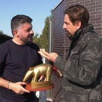 """Napoli, Gattuso riceve Tapiro d'Oro. """"La colpa è mia ma arriveranno momenti migliori"""""""
