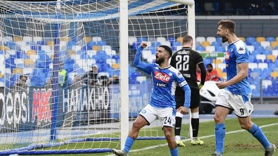 Il Napoli ritrova Insigne: doppietta del capitano al Perugia e qualificazione ai quarti di Coppa Italia