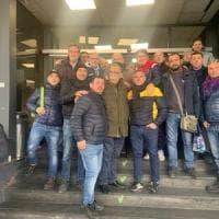 Napoli, Sandro Ruotolo visita gli operai Whirlpool