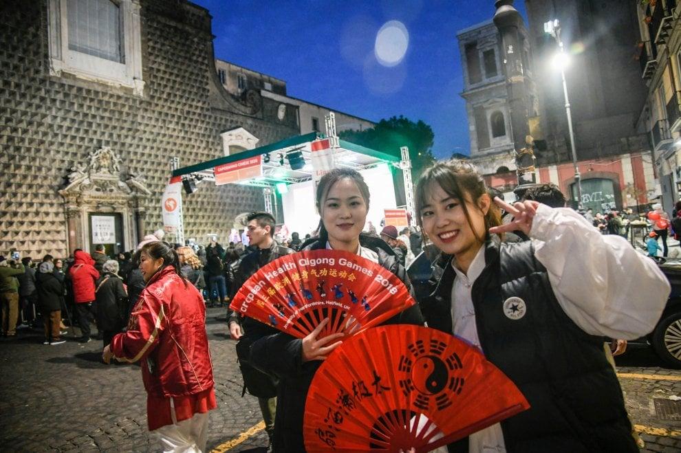 Capodanno Cinese senza paura in piazza del Gesù a Napoli