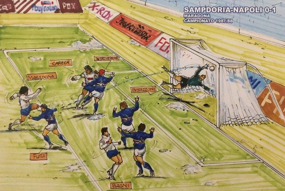 """Ischia, in mostra il calcio illustrato: """"Quando lo sport aveva un altro sapore"""""""