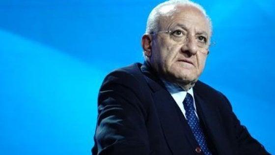 """Regionali, De Luca: """"Mi candido per continuare lavoro immenso"""""""