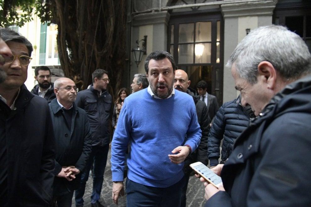 Salvini a Napoli: incontra imprenditori da Marinella
