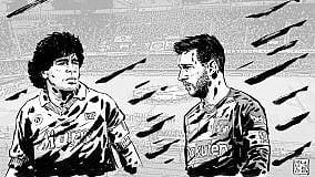 Maradona & Messi, il disegno tributo