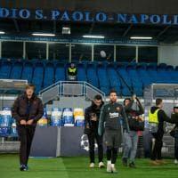 Emozione Messi al San Paolo, il Barcellona si allena per la sfida Champions a Napoli