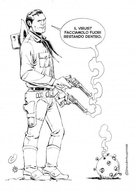 Un disegno contro la paura: Onofrio Catacchio e la saggezza di Tex