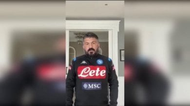 "Napoli, Gattuso: ""Restate a casa""  / Video"