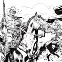 Tex e Carson al galoppo, un disegno contro la paura firmato Pugliese