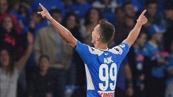 """Napoli, l'appello di Milik ai tifosi: """"Mi mancate, torneremo più forti e appassionati di prima"""""""
