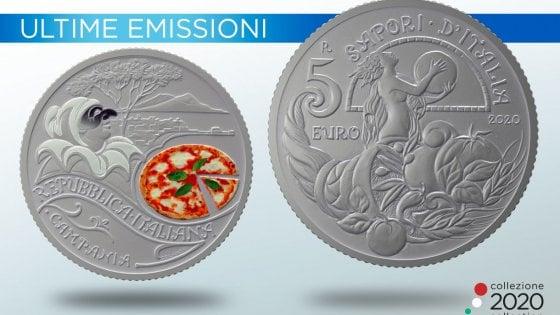 La Zecca dello Stato onora la pizza, emessa moneta: raffigura la Margherita con Pulcinella
