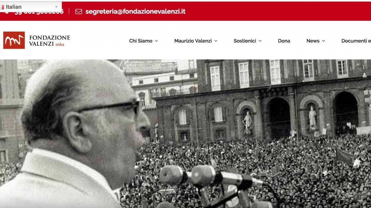 Nuovo sito web per la Fondazione Valenzi - la Repubblica