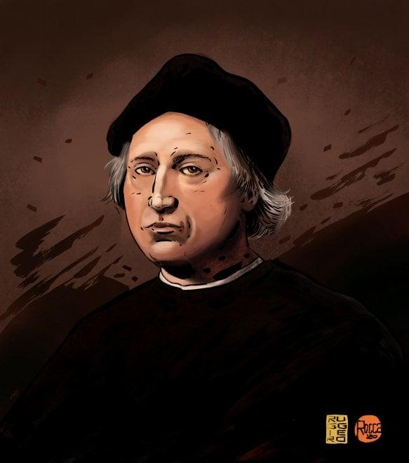 La storia in un disegno: Cristoforo Colombo