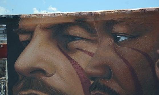 Napoli murale Jorit Floyd lotta contro razzismo