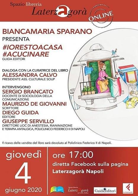 Il libro curato da Biancamaria Sparano #iorestoacasa #acucinare aiuta il Policlinico Federico II