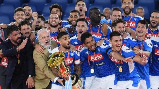 """La vittoria del Napoli, Gattuso: """"Abbiamo scalato una montagna"""". De Laurentiis: """"Non parliamo più delle multe, con Rino una nuova era, con noi a lungo"""""""
