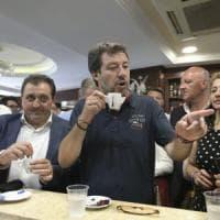 "Salvini a Castel Volturno, piazza blindata: ""Tornerò a Mondragone entro una settimana"""