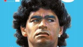 Tributo a Maradona, leggenda  del football